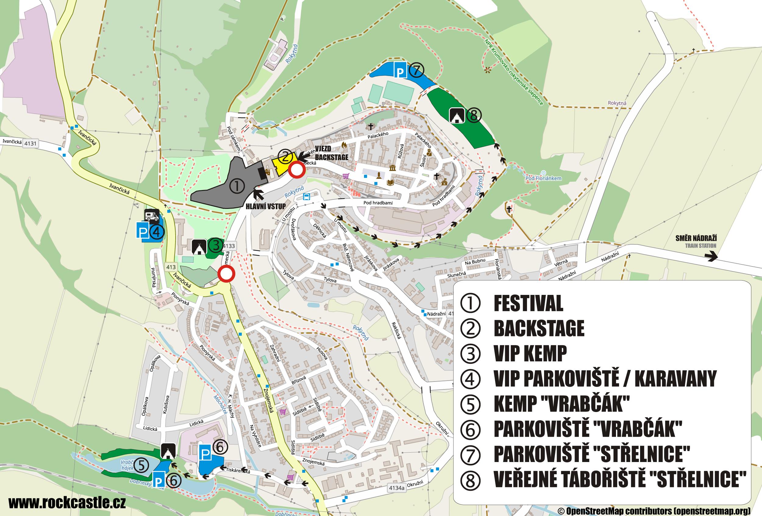 2022 - Rock Castle - kemp Vrabčák - parkování